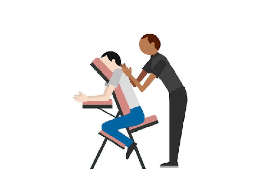 Massage Amma sur chaise